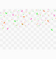 colorful bright confetti vector image vector image