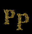 Decorated letter p vector image vector image