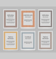 decorative frames and borders vector image