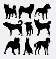 Dog collection pet animal silhouette vector image vector image