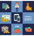 Finance banking set vector image