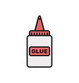 glue flat icon sign symbol vector image vector image