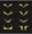 golden wing set vector image vector image