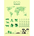 Green energy and ecology Infographic set vector image vector image