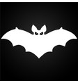 halloween flying white bat vector image