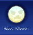 happy halloween angry moon vector image vector image