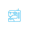home sewing linear icon concept home sewing line vector image