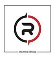 initial letter r logo template design vector image