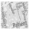 Just One Call Brings the Air Ambulance Word Cloud vector image vector image