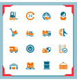 Logistic icons vector image vector image