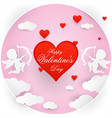 love and valentine day origami vector image