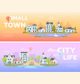 lovely city - set of modern flat vector image vector image