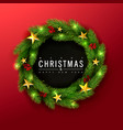 merry christmas and happy new yeargreen christmas vector image