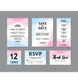 Modern Wedding Set template vector image vector image