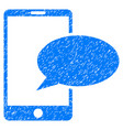 phone message grunge icon vector image