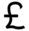 pound sterling the black color icon vector image vector image