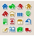 Real Estate Icons as Labels vector image vector image