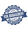 risk management stamp sign seal vector image vector image