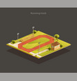 running track isometric vector image vector image