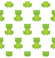 seamless pattern with cute frogs vector image vector image