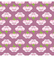 seamless sakura flower pattern vector image