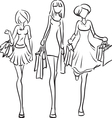 Series Shopping Friends vector image vector image