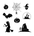 set halloween icons all saints day vector image vector image