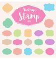 set pastel colour vintage stamp blank frame vector image vector image