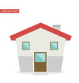 small house flat style vector image