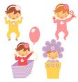 Spring babies set vector image
