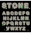 Stone alphabet in vector image