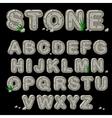 Stone alphabet in vector image vector image