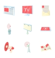 Stream icons set cartoon style vector image vector image