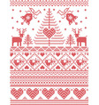 Tall xmas pattern with birds vector image vector image