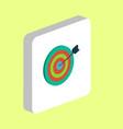 target computer symbol vector image vector image