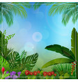 tropical jungle background vector image vector image