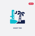 two color desert tree icon from desert concept vector image