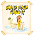 Wash hands vector image vector image