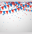white background with flags and stars vector image