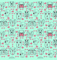 pattern with pet cute dogs trendy background in vector image