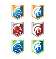 spartan head logo with variety color vector image