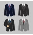 business clothing suit vector image