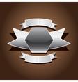metallic automotive motorcycle badge vector image
