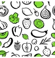 Seamless food pattern vector image