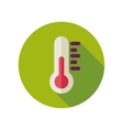 Thermometer flat icon Meteorology Weather vector image