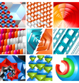 3d background abstract design set vector image vector image