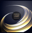 abstract transparent light effect swirl with neon vector image