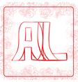 AL monogram vector image vector image