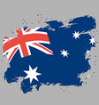 Australia flag grunge style on gray background vector image vector image