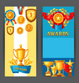 awards and trophy banners vector image